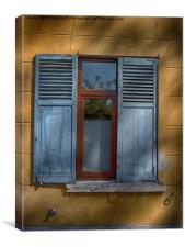 belgian window blinds, Canvas Print