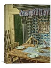 the old kitchen, Canvas Print
