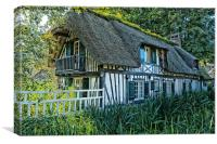 french cottage, Canvas Print