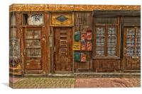 letter boxes, Canvas Print