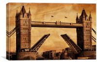 Tower Bridge Sepia, Canvas Print