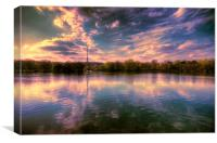 Sunset over the Lake, Canvas Print