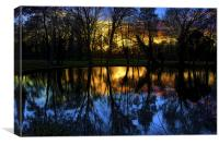 Sunset over the Pond, Canvas Print