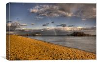 Rainbow over Brighton Pier, Canvas Print