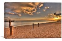 Sunset over The old Pier, Canvas Print