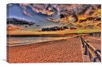 Sunset along the beach, Canvas Print