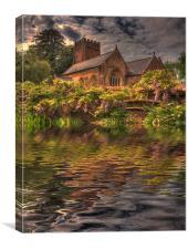 Reflected Church, Canvas Print