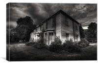 Morden Hall Cottages, Canvas Print