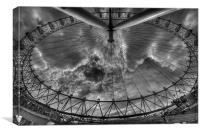 London eye Wideangle, Canvas Print