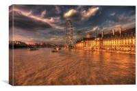 London Eye Sunset, Canvas Print