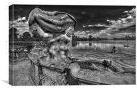 Hever Lakes Fountain, Canvas Print