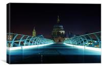 St Pauls over Millennium, Canvas Print