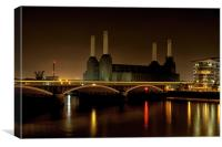 Battersea, London, Canvas Print