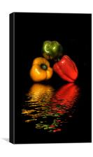 Coloured Peppers iPhone Case, Canvas Print