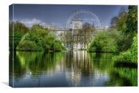 St James Park and London Eye, Canvas Print