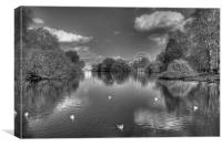 St James Park black and white, Canvas Print