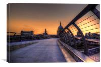 St Pauls at Sunset, Canvas Print