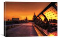 St pauls Sunset, Canvas Print