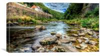 River Lyn, watersmeet, Canvas Print