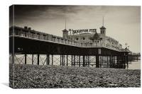 Brighton Pier Sepia toned, Canvas Print