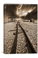 rails to the horizon, Canvas Print