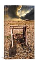 rusty abandoned winding gear, Canvas Print