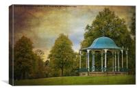 victorian bandstand in shrewsbury, Canvas Print