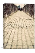 the old cobbled alley, Canvas Print