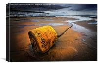 yellow buoy, Canvas Print