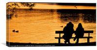 enjoying a windermere sunset, Canvas Print