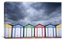 yarmouth beach huts, Canvas Print