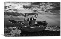 dungeness in mono, Canvas Print