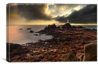 moody at La Corbiere lighthouse, Canvas Print