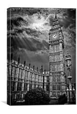 house of commons clock tower or big ben, Canvas Print