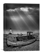 fishing boat graveyard 11, Canvas Print