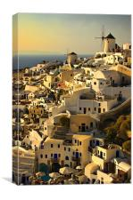 an evening in Oia, Canvas Print