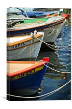 greek fishing boats, Canvas Print