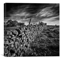 dry stone walls, Canvas Print