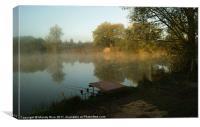 Fishing Jackletts Farm Sunrise, Canvas Print