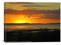 Thames NZ sunset, Canvas Print