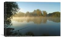 Mist on the water, Canvas Print