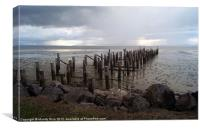 Delapidated jetty NZ, Canvas Print