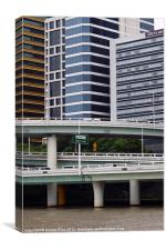 River Roads and Office Blocks, Canvas Print