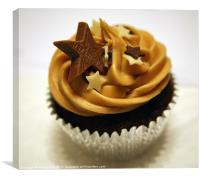 Iced cup cake, Canvas Print