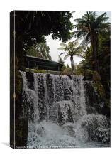 Garden Waterfall, Canvas Print