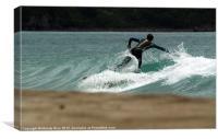 Falling Surfer, Canvas Print