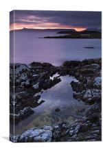Sunset At Portnaluchaig, Arisaig, Scotland, Canvas Print