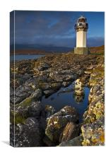 Rhue Lighthouse, Rhue, Rosshire, Canvas Print