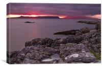 Portnaluchaig After Sunset, Scotland, Canvas Print