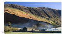 Gatesgarth Farm & Hindscarth Edge, Canvas Print